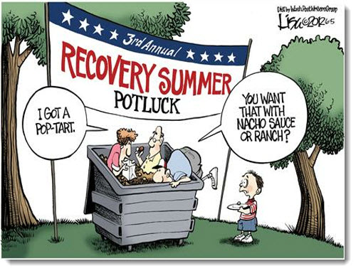 economic-recession-recovery-summer-potluck-political-cartoon