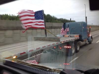 Truckers Arriving