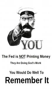 Fed Not Printing Money
